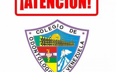 COMUNICADO AL GREMIO ODONTOLÓGICO VENEZOLANO ANTE EL CORONAVIRUS