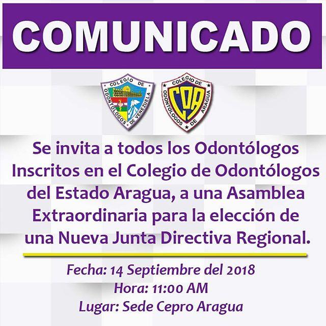 Elección de la Nueva Junta Directiva Regional de Aragua