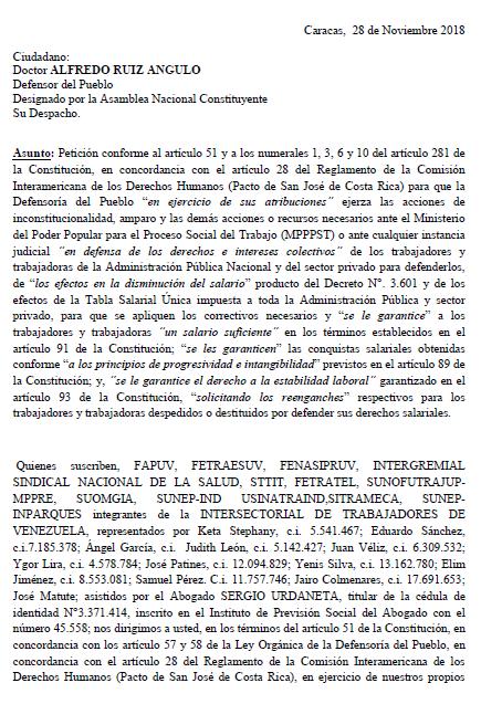 Documento para defensoría del pueblo