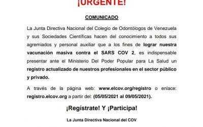 COMUNICADO: REGISTRO NACIONAL DE PROFESIONALES DE ODONTOLOGIA