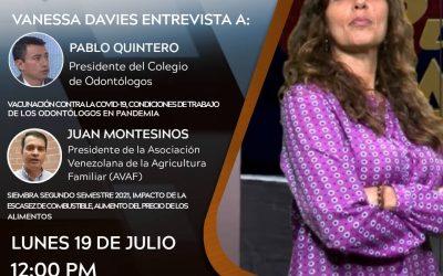 Entrevista al Dr Pablo Quintero, debatiendo jornada de vacunación y situación del gremio odontológico en Venezuela