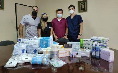 Donación materiales dentales a la Fundación Cruz Azul de Primeros Auxilios de la Universidad Santa María